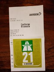 Autobahn-Vignette Schweiz 2021
