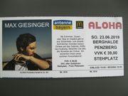 Max Giesinger Konzertkarte Penzberg 23