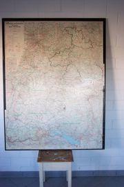 Verwaltungskarte Verkehrskarte Landkarte Baden Württemberg