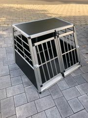 Hundetransportbox Aluminium