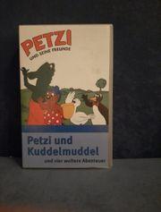 VHS Kassette Petzi und Kuddelmuddel