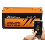 Komplettset 100AH Lifepo Bluetooth 200W