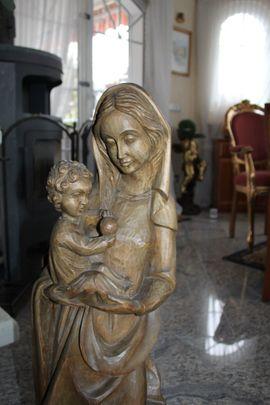 Bild 4 - Madonna Holzfigur Heiligenfigur Marienfigur Mutter - Pforzheim Nordstadt
