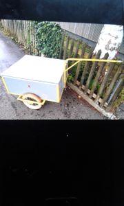 Fahrradanhänger oder Gartenanhänger gelb grau