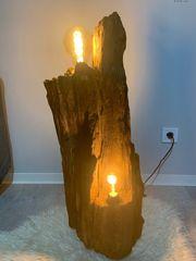 Lampe aus Treibholz Unikat