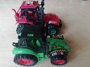 Power rote Traktor und Truck