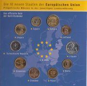 Ersttags-Sonderausgabe Neue EUStaaten 2004 Münzen