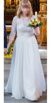 Schönes Brautkleid einmal getragen Gr