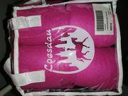 Fuchsia Pink Fleece Bandagen Warmblut
