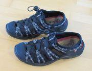 superbequeme dunkelblau schwarze Rieker Sandalen