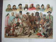 verschiedene Völkertypen 1895