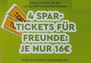 Legoland Tickets 4 Stück mit