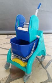 Reinigungswagen Einfachfahreimer Wischeimer Putzwagen