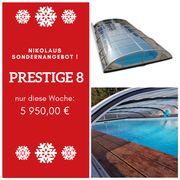 Poolüberdachung Prestige 8 8 68