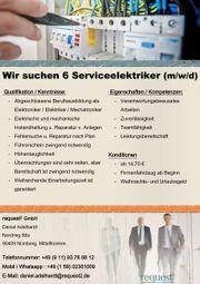 Wir suchen 6 Serviceelektriker m