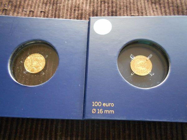 100 Euro Gold Münze Frankreich 2016 Fußball Em In Neu Ulm Münzen