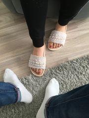 Fußbilder getragene Unterwäsche Socken