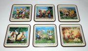 6 Untersetzer Coasters Pimpernel England