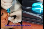 Hyaluron spritzen ohne Nadel Schulung