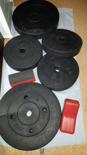 Hantel Scheibe Gewichte gummiert
