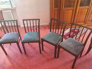 Vier Antike Stühle Echtholz Kirschbaum