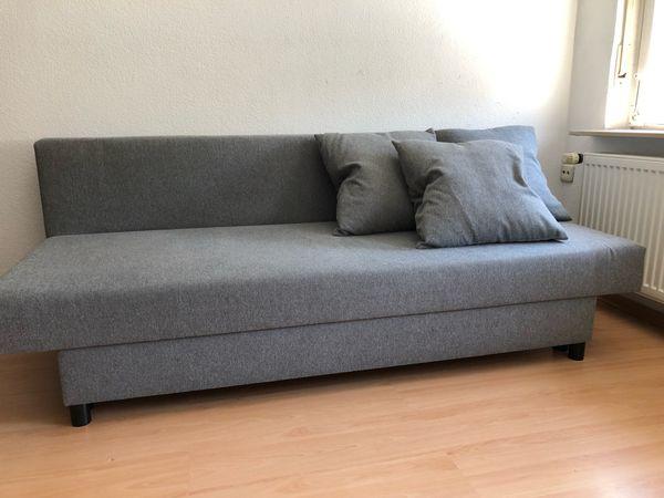 Sofa Schlafsofa Couch In Grau Stoff 2 Stück Zu Verkaufen Von