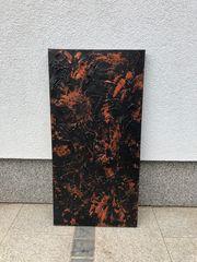 Bild Acryl aus Leinen 40x80cm