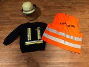 Faschingskostüm Feuerwehr 110 116
