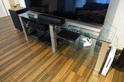 TV Tisch Phonotisch aus Glas