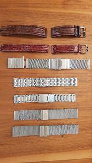 Uhr Armbänder Milanese Mesh Leder