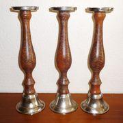 3 Kerzenständer - Höhe 38 cm - Metall