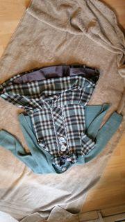 Mädchenkleid mit Innenkleid und Strickjäckchen