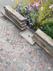 8 Rasenbordsteine Grau 100x20x5cm Randstein