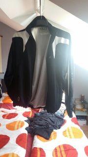Saller Trainingsjacke schwarz weiß