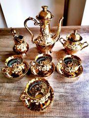 Vergoldetes Tee Kaffeeset Aus Erbschaft