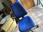 Bürostuhl Drehstuhl Stuhl blau rollbar