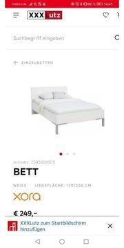 Bett 120x200 inkl Matratze