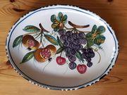 Obstteller groß Keramik handgearbeitet