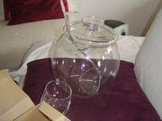 Bowlegarnitur aus Glas