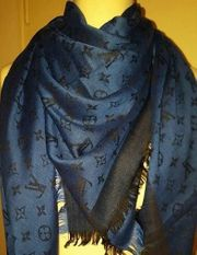 Louis Vuitton Schal - Nachtblau Schwarz