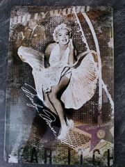 Bild - Marilyn Monroe -Blechschild