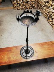 Aschenbecher Kerzenhalter Speisekartenhalter - geschmiedet