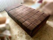Aufklappbare Liege Schlafsofa 190x90cm Bettkasten