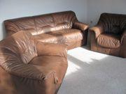Sofa und 2 Sessel Echtes