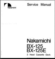 NAKAMICHI BX-125 125E SERVICE-Repar -Manual-ANLEITUNG
