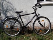 Herren-Fahrrad 28 schwarz 21-Gang-Shimano-Kettenschaltung