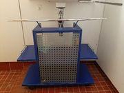 Waschbecken Unterschrank blau Gebraucht