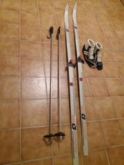 Herrenlanglauf Ski mit Bindung und