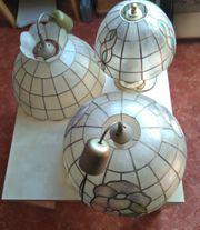 1 Tischleuchte 2 Hängeleuchten Tiffany