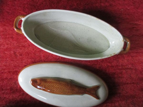 Fischschale mit Deckel Mandarin Schramberg